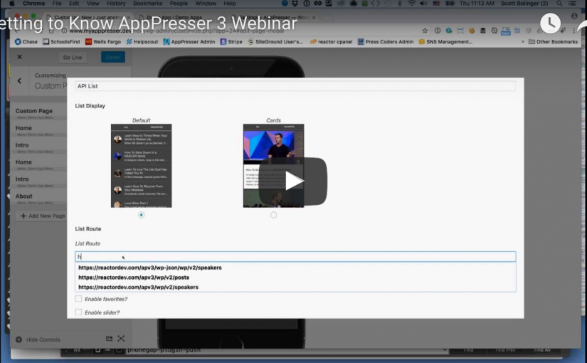 Webinar: Getting to Know AppPresser 3